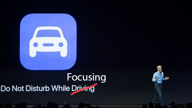 Apple Keynote - Do not disturb while focusing